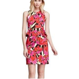 Kate Spade Rio De Janeiro Peplum Sleeveless Dress